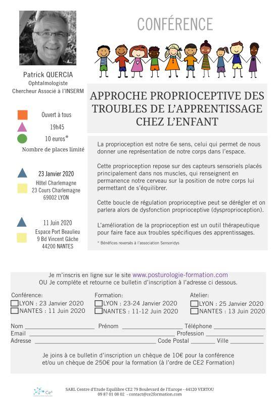 Approche proprioceptive des troubles des apprentissages chez l'enfant (Conférence) dans Dys dr-qn